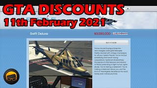 GTA Online Best Vehicle Discounts (11th February 2021) - GTA 5 Weekly Car Sales Guide #70