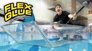 I Made An Entire Glass Boat With Flex Glue Clear!!
