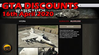 GTA Online Best Vehicle Discounts (16th April 2020) - GTA 5 Weekly Car Sales Guide #34