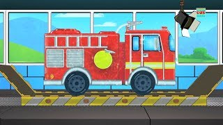 Fire Truck Car Wash | Car Wash Video For Kids | Cartoon For Children