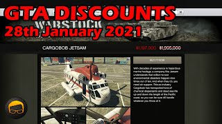 GTA Online Best Vehicle Discounts (28th January 2021) - GTA 5 Weekly Car Sales Guide #68