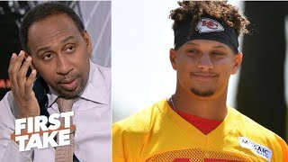 Stephen A. stunned to hear Patrick Mahomes is better than Aaron Rodgers | First Take