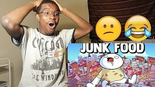 Junk Food (Reaction) 😩😋😋😱🍕🍔🍧🎂👀| TheOdd1sOut