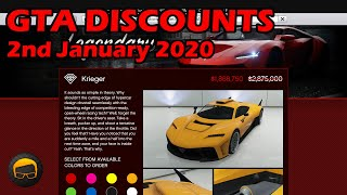 GTA Online Best Vehicle Discounts (2nd January 2020) - GTA 5 Weekly Car Sales Guide #19