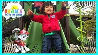 Family Fun Playtime on the playground with Paw Patrol