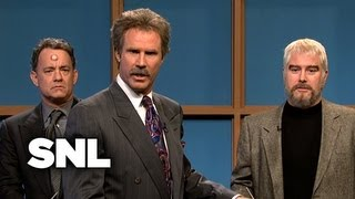 Celebrity Jeopardy! Kathie Lee, Tom Hanks, Sean Connery, Burt Reynolds - SNL