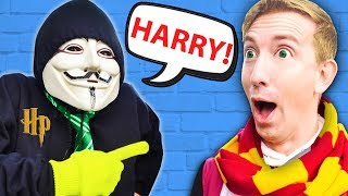 GOING UNDERCOVER as HARRY POTTER 24 HOUR CHALLENGE! Tricking Hacker PZ FUNF to Unlock Secret Hatch