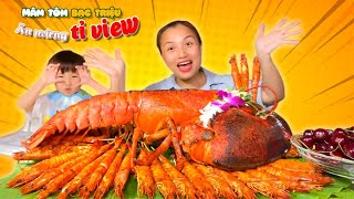 Delicious number of giant shrimp pancakes 1 Billion View - Q&A Eight Light Life Stories # 658