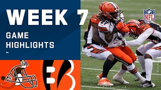 Browns vs. Bengals Week 7 Highlights | NFL 2020