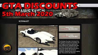 GTA Online Best Vehicle Discounts (5th March 2020) - GTA 5 Weekly Car Sales Guide #28