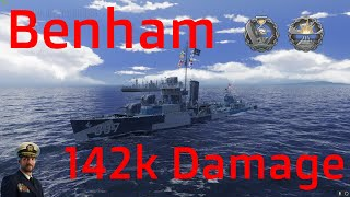 Benham American Destroyer T9 | 142k Damage | World of Warships