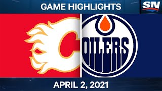 NHL Game Highlights | Flames vs. Oilers – Apr. 02, 2021