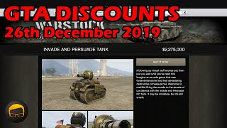 GTA Online Best Vehicle Discounts (26th December 2019) - GTA 5 Weekly Car Sales Guide #18