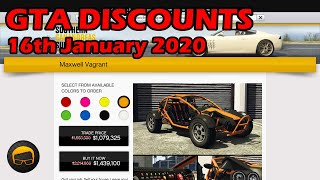 GTA Online Best Vehicle Discounts (16th January 2020) - GTA 5 Weekly Car Sales Guide #21