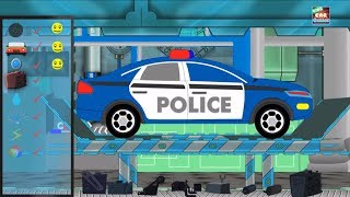 Police Car Repair Car Garage & Car Wash Video Cartoon About Cars Video For Kids