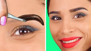 MAKEUP HACKS TO SPEED UP YOUR BEAUTY ROUTINE || Funny Beauty Struggles by 123 Go! Gold