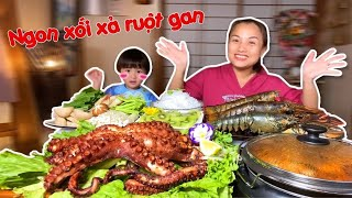 Delicious Dzung Hot Pot Sour Lobster Spicy & Octopus Egg Super Big 4kg Grilled Delicious