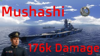 Mushashi IJN-Battleship T9 | 176k Damage | World of Warships