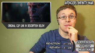 Avengers Infinity War Super Bowl 52 Big Game TV Spot Reaction & Review