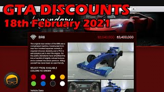 GTA Online Best Vehicle Discounts (18th February 2021) - GTA 5 Weekly Car Sales Guide #71