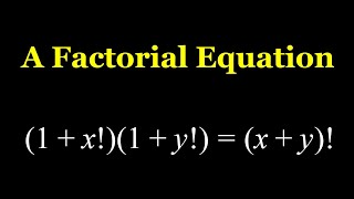 A Quick and Easy Factorial Equation from Romania