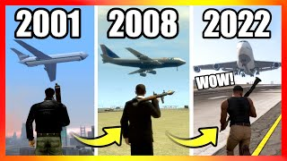 Evolution of PLANES LOGIC in GTA Games (2001-2020)