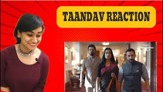 TAANDAV TRAILER REACTION | SAIF ALI KHAN | AMAZON PRIME | REACTIONWAALI
