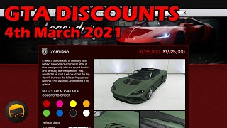 GTA Online Best Vehicle Discounts (4th March 2021) - GTA 5 Weekly Car Sales Guide #73