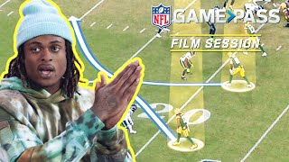 Davante Adams Breaks Down Releases, Double Moves, & the Art of the Toe-Tap Catch | NFL Film Session
