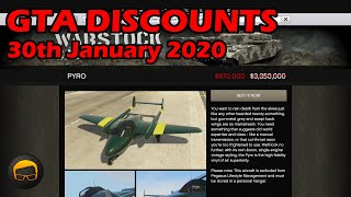 GTA Online Best Vehicle Discounts (30th January 2020) - GTA 5 Weekly Car Sales Guide #23