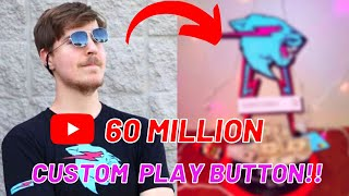 MrBeast Custom 50million play button | Made by me. #mrbeast #youtube.