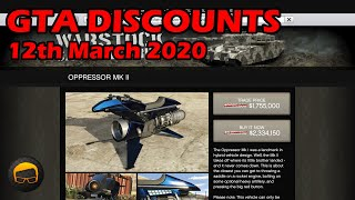 GTA Online Best Vehicle Discounts (12th March 2020) - GTA 5 Weekly Car Sales Guide #29