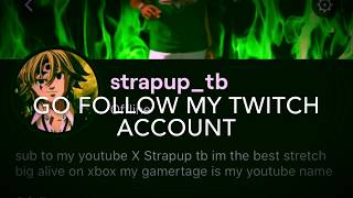 follow me on twitch link in the description