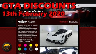GTA Online Best Vehicle Discounts (13th February 2020) - GTA 5 Weekly Car Sales Guide #25