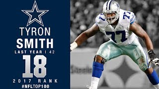 #18: Tyron Smith (OT, Cowboys) | Top 100 Players of 2017 | NFL