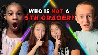 6 Fifth Graders vs 2 Secret College Students | Odd Man Out