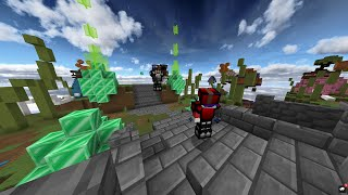 BEDWARS sweat on NEW HYPIXEL map EASTERGARDEN