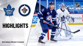 Maple Leafs @ Jets 4/2/21 | NHL Highlights