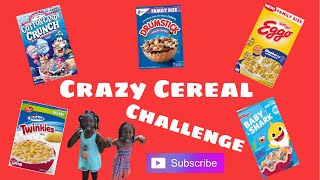 Crazy Cereal Taste Test ft Jayla