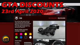 GTA Online Best Vehicle Discounts (23rd April 2020) - GTA 5 Weekly Car Sales Guide #35