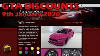 GTA Online Best Vehicle Discounts (9th January 2020) - GTA 5 Weekly Car Sales Guide #20
