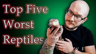 Top 5 BAD PET REPTILES For Kids | Get These Reptiles Instead