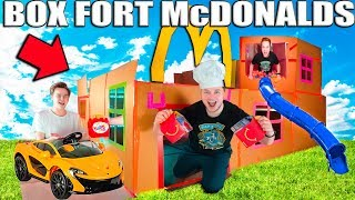 GIANT BOX FORT MCDONALDS CHALLENGE! Drive Through, Play Place & More!