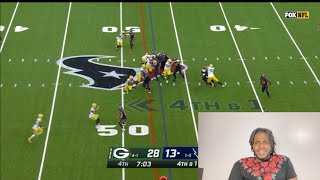 Green Bay Packers  VS  Houston Texans week 7 highlights REACTIONS