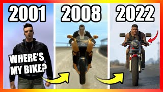 Evolution of BIKES LOGIC in GTA Games (2001-2020)