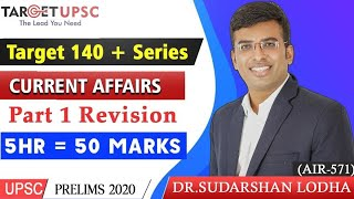 Current Affairs | 5 hours = 50 marks | UPSC PRELIMS 2020 | Target 140+ | join telegram channel |