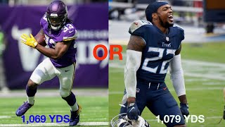 Who Will Be the 2020 NFL Rushing Yards Leader: Derrick Henry or Dalvin Cook?