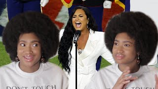 DEMI LOVATO SINGING THE NATIONAL ANTHEM SUPERBOWL 2020 - LIVE REACTION l THE FERNY SHOW TV