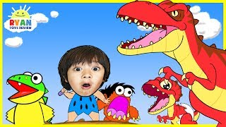 Dinosaur Cartoons for Children! Ryan ToysReview rescue baby T-REX Animation for Kids