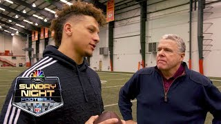 Patrick Mahomes recreates no-look pass, goes in-depth on football with Peter King | NFL | NBC Sports
